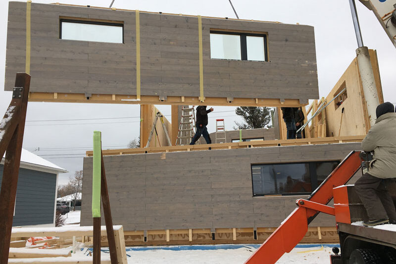 First prefabricated certified PH home out of CLT (cross laminated timber) in Invermere, BC